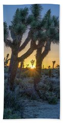 Good Morning From Joshua Tree Beach Towel