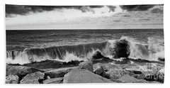 Beach Sheet featuring the photograph Good Morning In Black And White by Ricky L Jones