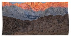 Good Morning Mount Whitney Beach Towel
