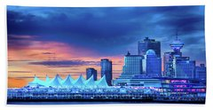 Beach Towel featuring the photograph Good Morning Vancouver by John Poon