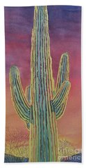 Good Night Cactus Wren Beach Towel