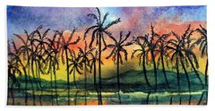 Good Night Hawaii Beach Towel