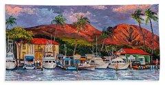 Beach Towel featuring the painting Good Night Lahaina by Darice Machel McGuire