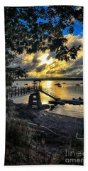 Good Night Madeleine Point Beach Towel