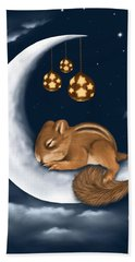 Beach Towel featuring the painting Good Night by Veronica Minozzi