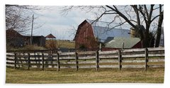 Beach Towel featuring the photograph Good Old Barn by Donald C Morgan