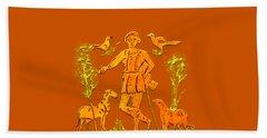 Beach Towel featuring the digital art Good Shepherd by Asok Mukhopadhyay
