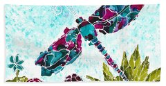 Beach Towel featuring the painting Good Vibrations II by Kathryn Riley Parker