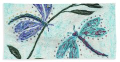 Beach Towel featuring the painting Good Vibrations by Kathryn Riley Parker