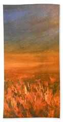 Beach Towel featuring the painting Goodbye by Jane See