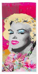 Beach Towel featuring the digital art Goodbye Norma Jean  by Eleni Mac Synodinos