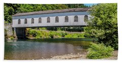 Goodpasture Covered Bridge Beach Towel