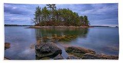 Beach Towel featuring the photograph Googins Island by Rick Berk