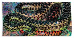 Gopher Snake Beach Sheet by Pamela Cooper