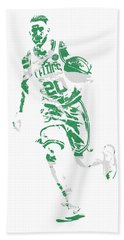 Gordon Hayward Boston Celtics Pixel Art 10 Beach Towel