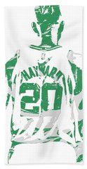 Gordon Hayward Boston Celtics Pixel Art T Shirt 5 Beach Towel