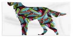 Gordon Setter Spirit Glass Beach Sheet