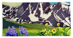 Gore Range Wildflowers Beach Towel