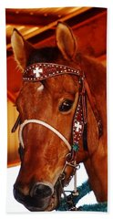 Gorgeous Horse And Bridle Beach Towel