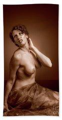 Gorgeous Nude. Beach Towel