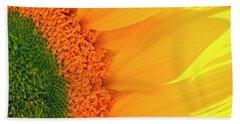 Gorgeous Sunflower Macro Beach Towel