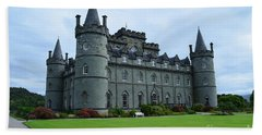 Gorgeous View Of Inveraray Castle Beach Sheet