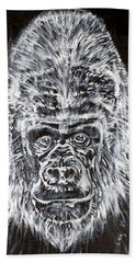 Beach Sheet featuring the painting Gorilla Who? by Fabrizio Cassetta