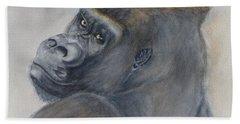 Gorilla's Celebrity Pose Beach Towel