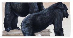 Gorillas Beach Towel
