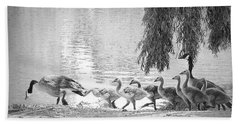 Goslings Bw8 Beach Towel by Clarice Lakota