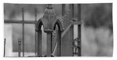 Gothic Ornamental Fence In Boothill Beach Towel