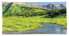 Beach Towel featuring the photograph Gothic Valley - Morning by Eric Glaser