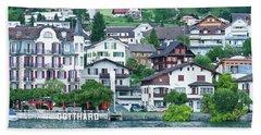 Hotel Gotthard On Lake Lucerne Beach Sheet