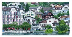 Hotel Gotthard On Lake Lucerne Beach Sheet