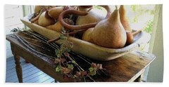 Gourds In Bowl Beach Towel
