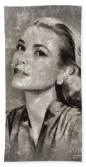 Grace Kelly By Mary Bassett Beach Towel