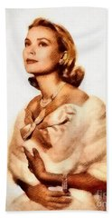 Grace Kelly, Vintage Actress By John Springfield Beach Towel