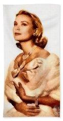 Grace Kelly, Vintage Actress By John Springfield Beach Towel by John Springfield