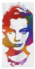 Grace Kelly Watercolor Beach Towel