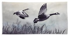 Graceful Geese Beach Towel