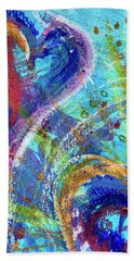 Graceful Hearts Beach Towel