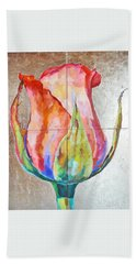 Beach Towel featuring the painting Graceful Love by Eva Konya