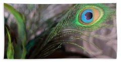 Graceful Peacock Feather Beach Sheet