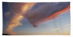 Graceful Pink Clouds Beach Sheet