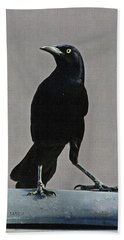 Grackle Looking Beach Towel