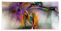 Graffiti - Fractal Art Beach Towel