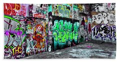 Graffiti Alley Beach Towel