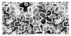 Beach Sheet featuring the mixed media Graffiti Garden - Art By Linda Woods by Linda Woods