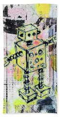 Graffiti Graphic Robot Beach Sheet