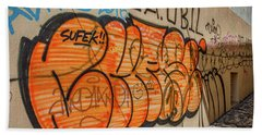Beach Towel featuring the photograph Graffiti In The Alley #2 - Slovenia by Stuart Litoff